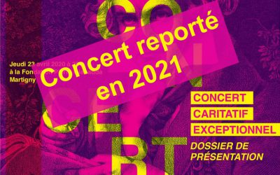 Concert caritatif organisé par les Clubs valaisans Soroptimist International avec Olivier Cavé